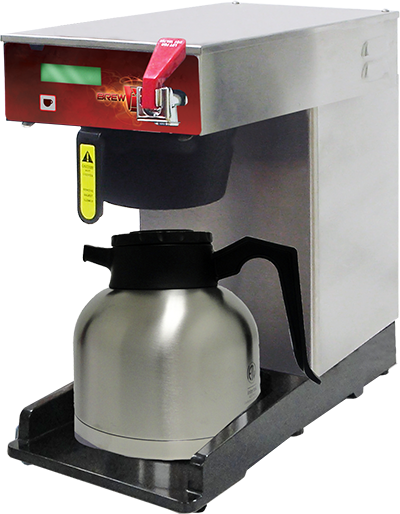 Adjustable Height Brewer with Digital                              Display